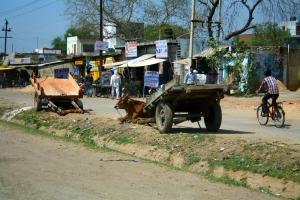 Auf der Straße Neu Delhi