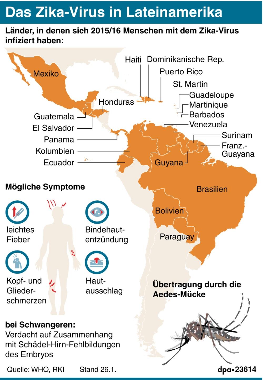 Das Zika-Virus in Lateinamerika (Wiederholung) (27.01.2016)